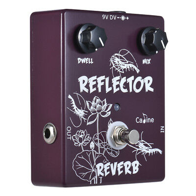 Caline CP-44 Reverb Guitar Effect Pedal Aluminum Alloy With True Bypass V9W7