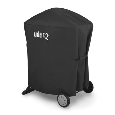 Weber 7113 Premium Grill Cover for Q 1000/2000 grills with portable cart