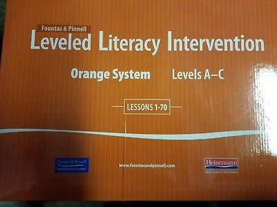 Fountas & Pinnell Leveled Literacy Intervention Orange Lesson Materials 31-70