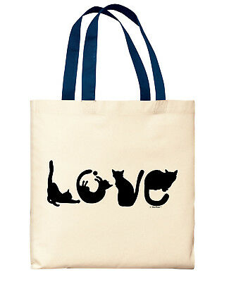 ef2619dc10 Cat Lover Gifts for Men LOVE Spelled With Cats Cat Mom Gifts Canvas Tote Bag