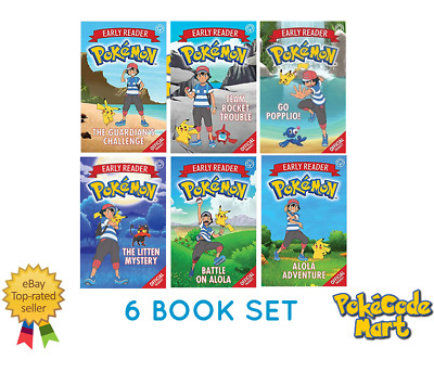 Pokemon Young Readers Official Story Books Collection (Age 5 Years+) 6 Book Set