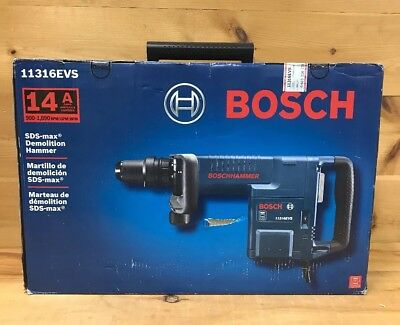 Bosch 11316EVS 14 Amp 120V SDS-max Demolition Hammer w/ Auto Bit Locking New