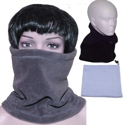 Boys Girls Kids Fleece Neck Warmer Tube Grey  Black Snood Hat