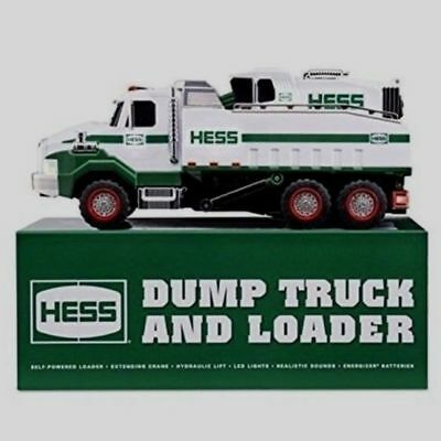 2017 Hess Collectible Toy Dump Truck & Loader W/ Crane, Led Lights, & Sounds New