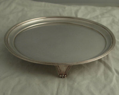 Vintage Small Solid Silver Card Tray Or Waiter - 174g - Sheffield 1976