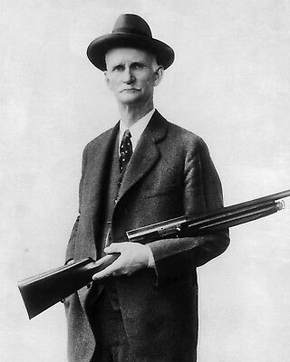 New 8x10 Photo: John Moses Browning, American Inventor and Firearms Designer