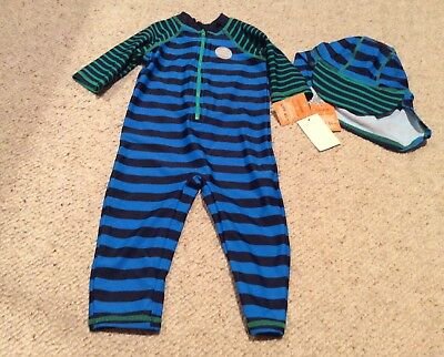 Cute Baby Boys Age 9 12 Months Upf 40 Sun Suit All In One Swimming