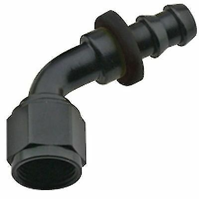 FRAGOLA 206012-BL -12 AN Push Lock 60 Degree Hose End Fitting Aluminum Black