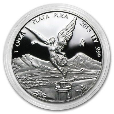 PROOF LIBERTAD - MEXICO - 2018 1 oz Proof Silver Coin in Capsule