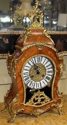 Louis XV Style Inlaid Bracket Clock