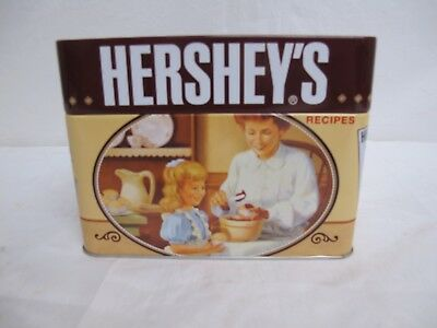 Hershey's Kisses Recipe Tin with 99 Dessert Recipe Cards