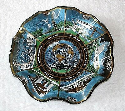 Souvenir Glass Ashtray New York World's Fair 1964 1965 Houze Art