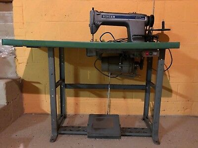 Singer Industrial Professional Sewing Machine With Clutch Motor