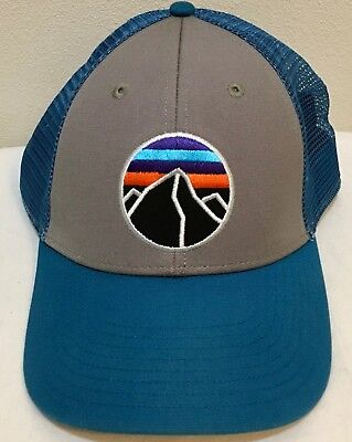 7512dee3 PATAGONIA FITZ ROY Emblem Lopro Trucker Hat - Excellent - Forge Grey ...