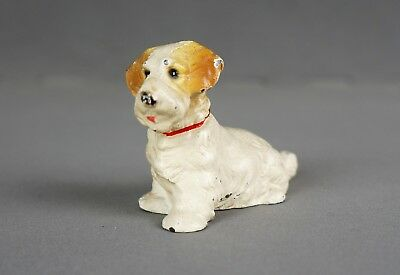 Antique Hubley Solid Cast Iron Sealyham Terrier Dog Paperweight Toy Statue