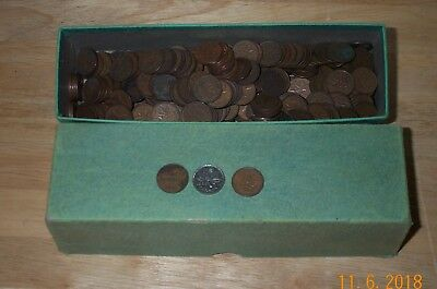 Box of Canadian One Cent (Penny) Coins