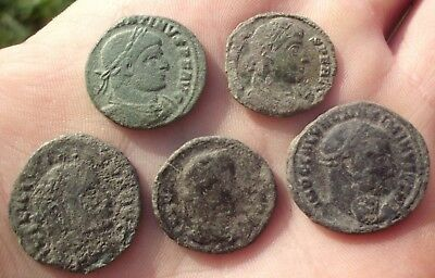 High Quality Intact Uncleaned Lot Of 5 Ancient Roman Imperial Coins