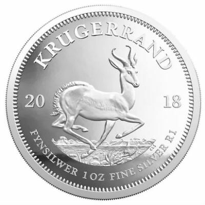 KRUGERRAND 2018 1 oz 1 Rand Pure Silver Proof Coin South Africa SEALED PLASTIC