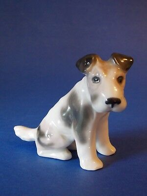 "Gotha Pfeffer Porcelain Terrier Dog 2-1/2"" Excellent+ Free Shipping!"