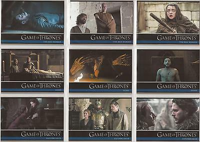 Game of Thrones Season 6 Trading Cards - Basis Set (100 Karten) Rittenhouse 2017