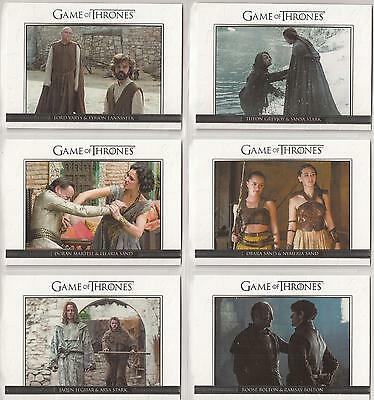 Game of Thrones Season 6 Trading Cards - Relationships Special-Set (DL31 - DL40)