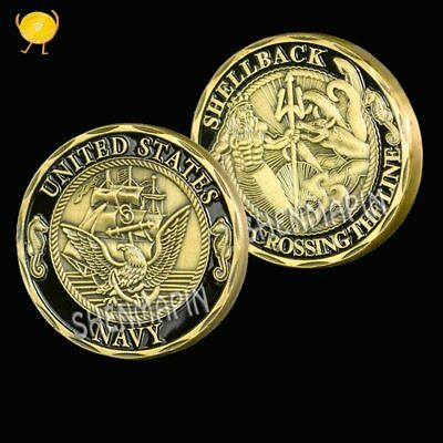 U.S. Navy Commemorative Coins Shellback Crossing the Line Challenge Coin USA