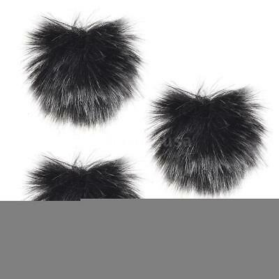 Furry Outdoor Microphone Windscreen Muff Mini Lapel Lavalier Microphone C1W9