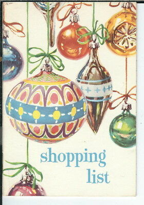 AX-084 Rand McNally & Co Christmas Shopping Notebook, style 5708 Vintage 1950's
