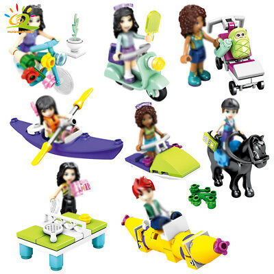 Daily Life Model Building Blocks set with Figures Girls Friends Toys Bricks