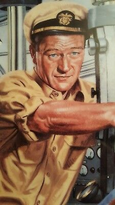 "FRANKLIN MINT JOHN WAYNE PLATE ""Symbol of naval strength"" LIMITED EDITION."