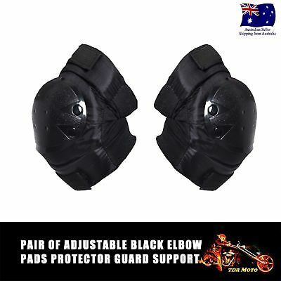Pair of Black Tactical Protector Skateboard Mountaineering Elbow Pad Guard Set