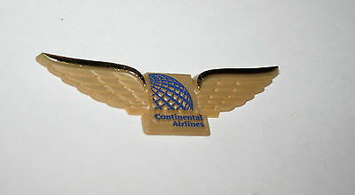 Vintage Plastic 1980s Continental Airlines Toy Pilots Wings Pin New NOS