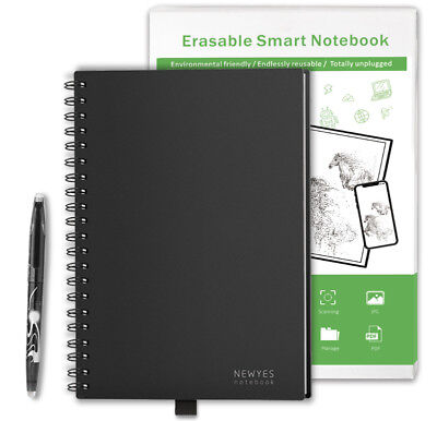 Tutmonda 30 Pages Erasable Smart Notebook Reusable Notepad Notepad  iOS Android