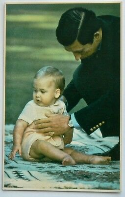 Postcard-Royalty.new Zealand.charles With Young William 1983