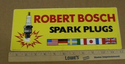 ROBERT BOSCH GERMANY auto parts Spark Plugs vtg 1970s drag racing decal  sticker