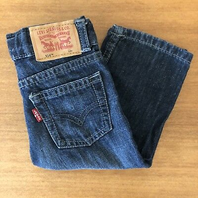 Levi's Red Tab 514 Straight Leg Baby Jeans In Dark Blue - Size 12M
