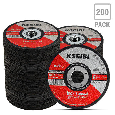 "KSEIBI 5"" Metal Stainless Steel Cutting Disc 125 x 22.2x1.0 mm Cut-Off Wheel T41"