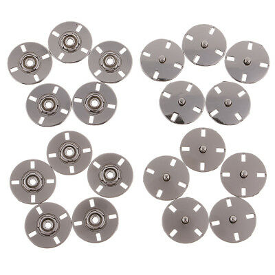 5 Sets Metal Snap Fasteners Press Stud Buttons DIY for Leather Clothes Jackets