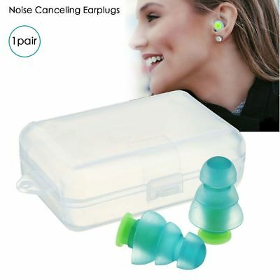 Pair Noise Cancelling Earplugs Silicone Hearing Protect Earplug for Sleeping