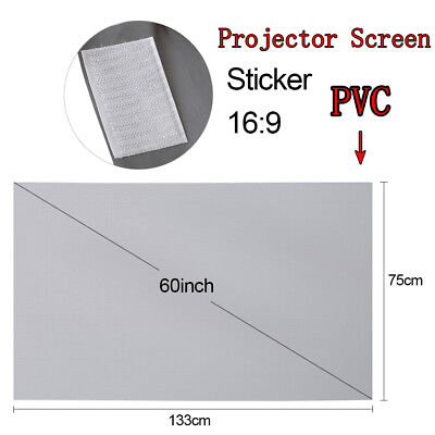 60'' Portable Foldable Projector Screen 16:9 HD 3D Home Theater Outdoor Movies