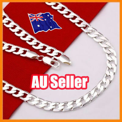 Stunning 925 Sterling Silver Filled 4MM Classic Curb Necklace Chain Wholesale ON
