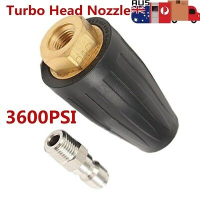 New Washer Turbo Head Nozzle for High Pressure Water Cleaner 3600PSI AU Stock
