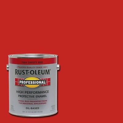RUST OLEUM 1G Safety Red Enamel Gloss Paint Professional