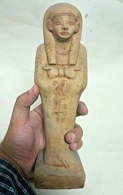 RARE ANCIENT EGYPTIAN ANTIQUE USHABTI QUEEN Statue 1632-1235 BC