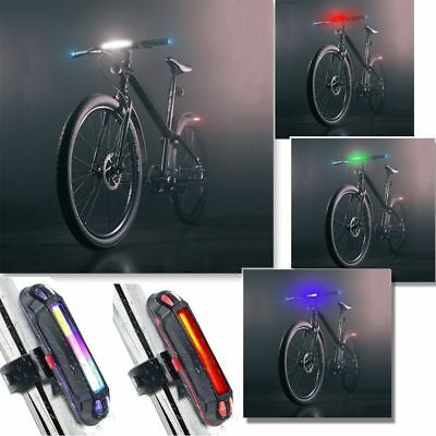 Bike Light Police LED Red Blue Taillight USB Rechargeable Bicycle Tail Lamp #JD
