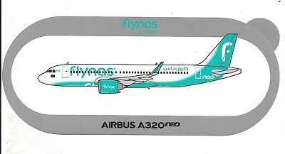 EXCLU !!! STICKER AUTOCOLLANT AIRBUS A320neo FLYNAS Saudi air - NOUVEAU NEW !!!