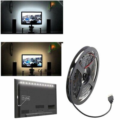 5V SMD 5050 USB Cable Power White LED Strip Light Waterproof TV Background Lamps