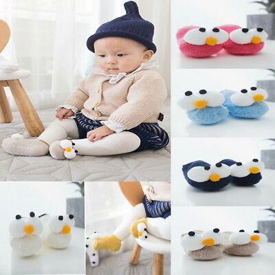 Anti Slip Cute Big Eye Soft Winter Warm Toddler Newborn Baby Floor Socks Xmas