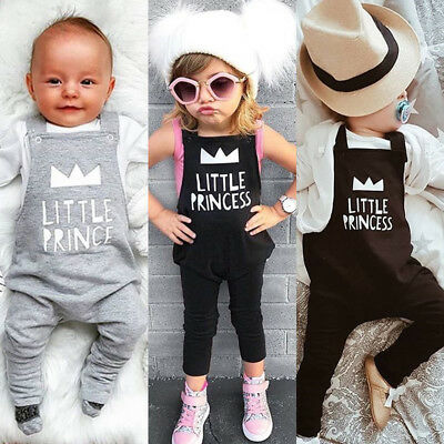 Toddler Baby Girl Boy Overalls Strap Romper Jumpsuit Outfits Set Cotton Clothes