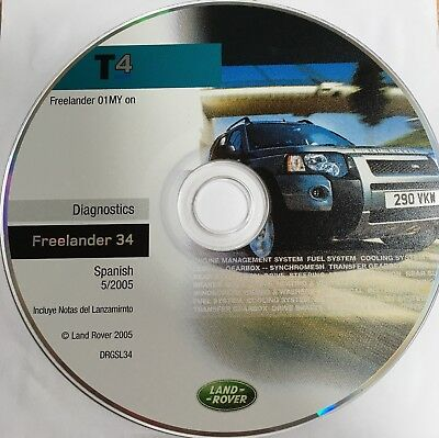 Diagnostic Disk / CD - T4 Land Rover / Testbook DRGSL34 / Freelander 34 /Spanish
